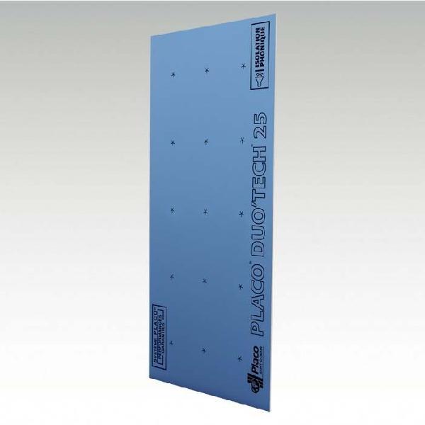 Plaque plâtre DUO TECH phonik haute dureté bords amincis 25mm 260x90cm