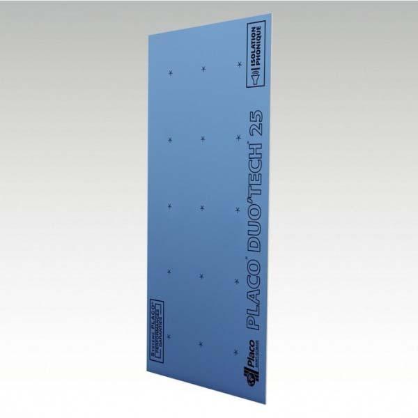 Plaque plâtre DUO TECH phonik haute dureté bords amincis 25mm 300x90cm