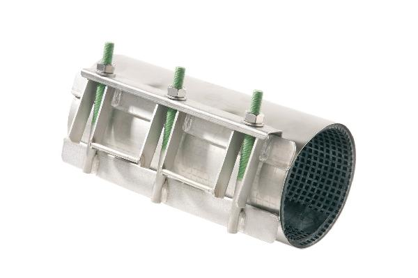 Manchon réparation inox simple bande 250mm Ø114-124mm réf :MI 1