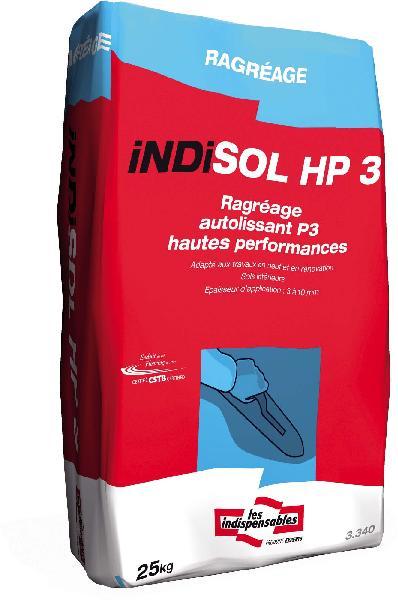 Mortier autolissant ragréage sol INDISOL HP3 sac 25kg