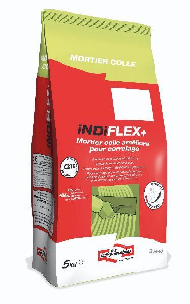 Mortier colle INDIFLEX+ Blanc sans poussière sac 5kg C2TE