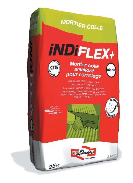 Mortier colle INDIFLEX+ gris sans poussière sac 25kg C2TE