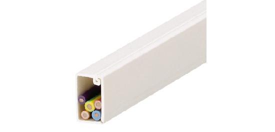 Cache câbles simple compartiment 10x10mm 2,1m blanc