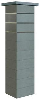 Pilier complet béton STEEL'IN gris nacre 39x39x172cm