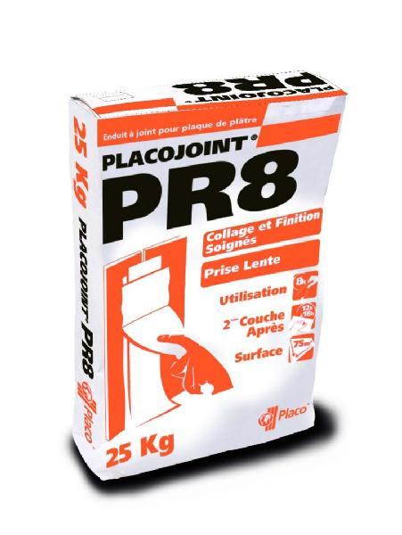 Enduit à joint prise lente 8H PLACOJOINT PR8 sac 25kg