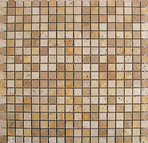 MOSAICO TRAVERTINO 30.5X30.5 DADOS