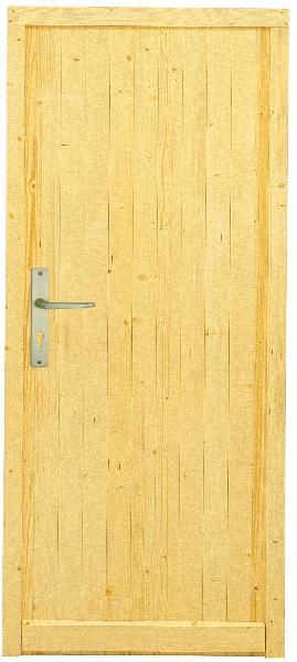 Porte de service sapin 27mm 200x80 dp for Porte 200x80