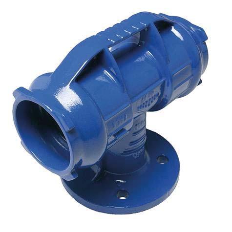 Té fonte BLUTOP® Ø125 tubulure à bride DN080mm nu ISO PN10-16
