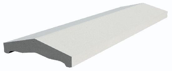 Couvertine EVOLUTION 2 pentes 100x30cm blanc cassé