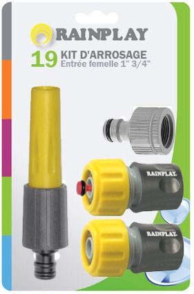 KIT 3 RACCORDS +LANCE 19MM
