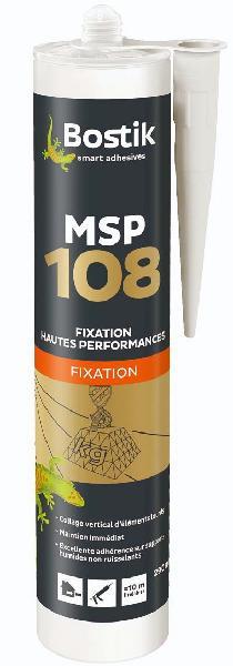 Mastic de fixation MSP 108 MS Polymère blanc cartouche(s) 290ml
