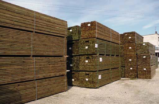 Sous-structure pin traité CL4 vert 45x145mm 5,00m