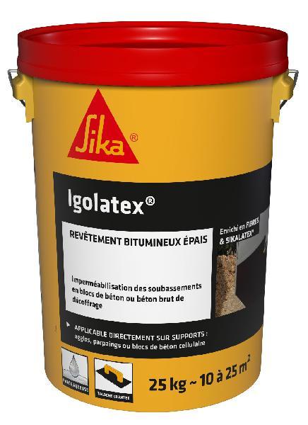 Enduit bitumineux IGOLATEX seau 25kg