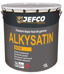 Peinture laque satinée ALKYSATIN blanc 10L