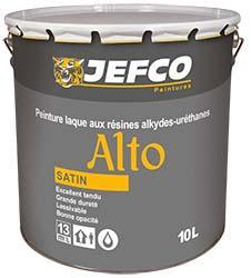 Peinture laque acrylique-alkyde ALTO satinée série2 10L