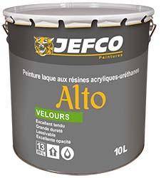 Peinture laque acrylique-alkyde ALTO velours blanc 10L