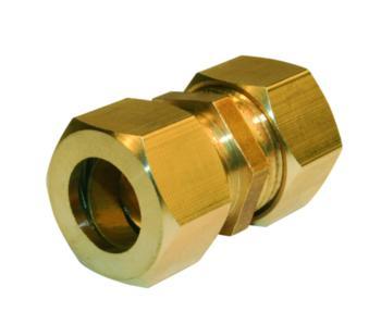 Jonction égale laiton bicône Ø14 pour tube cuivre