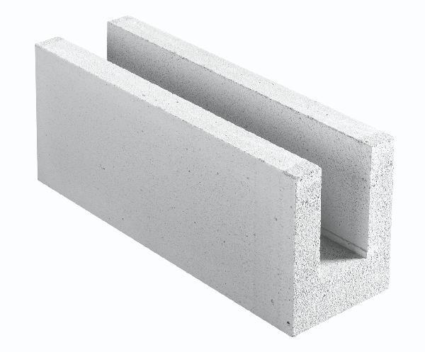 Bloc béton cellulaire COMPACT 20 chaînage horizontal 20x25x62,5cm