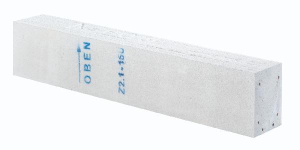 Bloc béton cellulaire linteau porteur 30x25x1750cm 8 kn/m