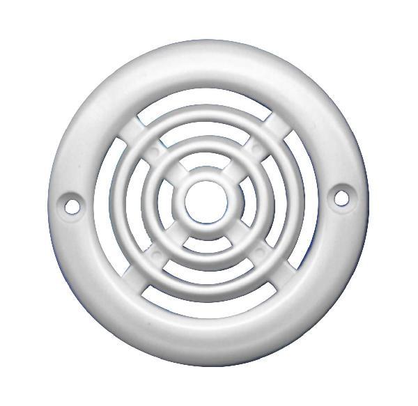Grille aération ronde 6cm2 Ø64mm blanc lot 4
