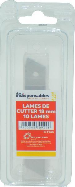Lame de cutter LES INDISPENSABLES 18mm jeu 10