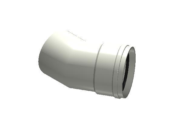 Coude PP ECO+ PREMIUM SN12 Ø125mm 30°