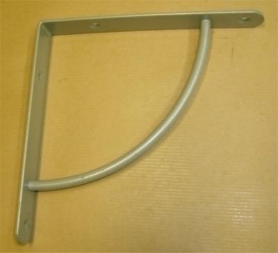 Console quart de cercle simple 230x230mm gris acier