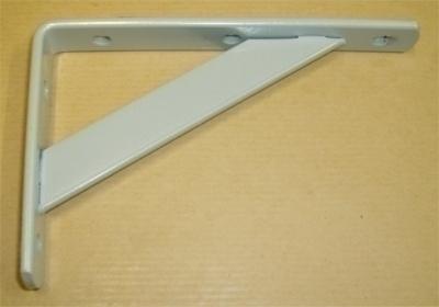 Console lourde charge petit modèle 125x200mm gris acier