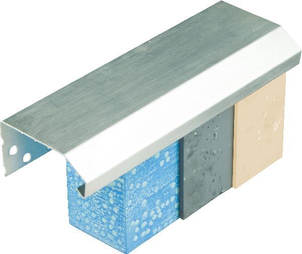 Profilé de couronnement alu IPCA140 pour isolant 140mm 2,5m