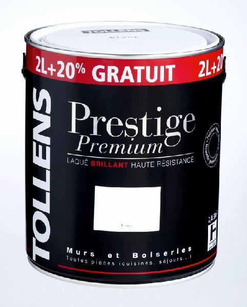 PEINTURE LAQUE ALKYDE BRILLANT PRESTIGE PREMIUM BLANC 2L+20%L