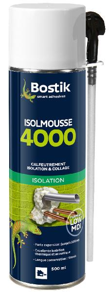 Mousse expansive PU ISOLMOUSSE 4000 Low-MDI blanche 500ml