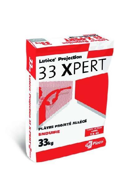 Plâtre allégé à projeter LUTECE PROJECTION 33X sac 33kg