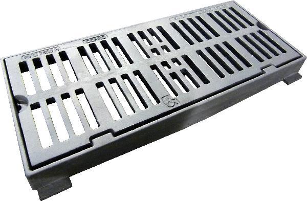 Grille fonte plate à cadre PMR CGA 7530 pour avaloir C250 780x330