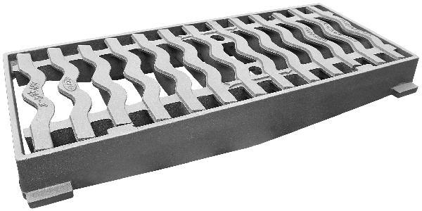 Grille fonte plate à cadre GRA 7530 pour avaloir C250 780x330