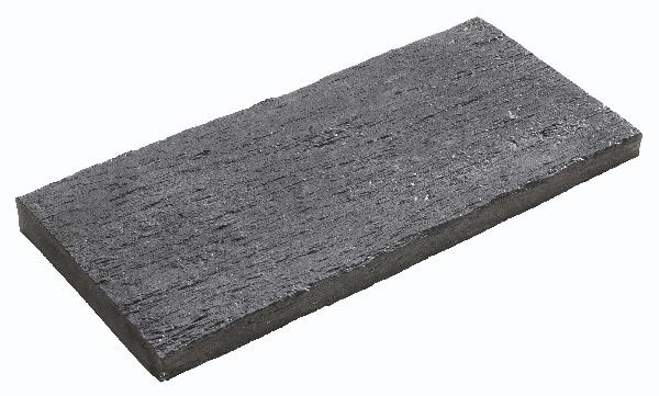 Margelle droite plate ARDOISIERE 27x60cm grise