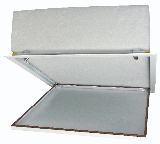 Trappe visite laquée blanche isolée/étanche poussez/lachez 600x600mm