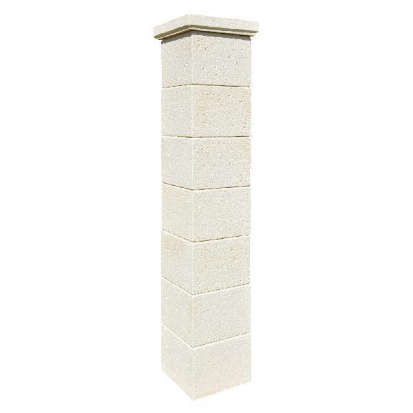 Pilier béton CHAUMONT crème 35x35x186cm