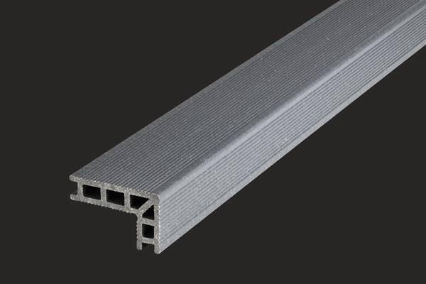 nez de marche bois composite profi deck gris granite. Black Bedroom Furniture Sets. Home Design Ideas