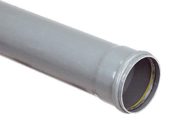 Tuyau PVC assainissement CR16 NF Ø125 3m