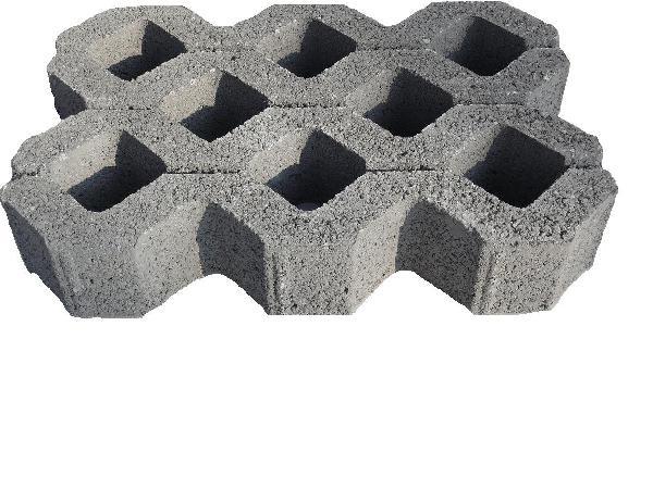dalle b ton gazon 50x33cm ep 9 5cm gris samse. Black Bedroom Furniture Sets. Home Design Ideas