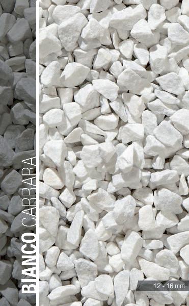Concassé marbre 8/16mm blanc de carrare sac 25 kg