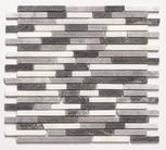 Mosaïque AFYON gris 32,5cm Ep.8mm