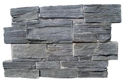 Parement ardoise sur ciment GJ027 15x60cm Ep.25-35mm noire