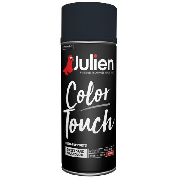 Peinture de décoration JULIEN noir brillant bombe 400ml