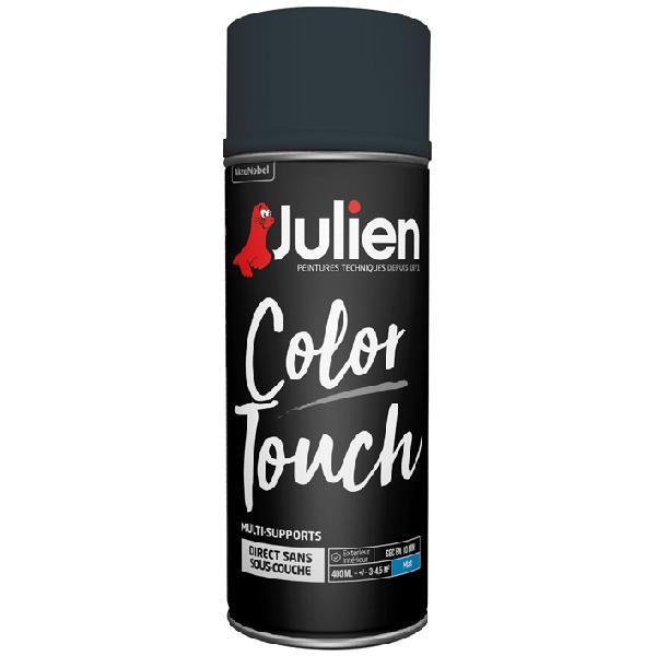 Peinture de décoration JULIEN noir mat bombe 400ml
