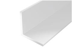 Cornière égale PVC blanc 1m 20x20mm Ep.1,5mm