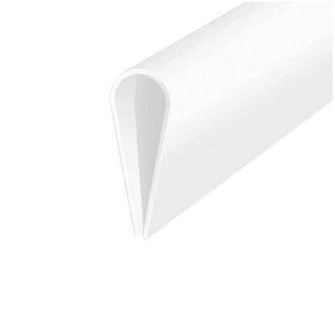 Profilé à autoserrage PVC blanc 1m 15X0,9mm