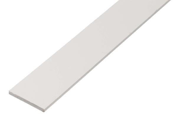 Profil plat pvc blanc 1m 30x3mm for Champ plat pvc blanc