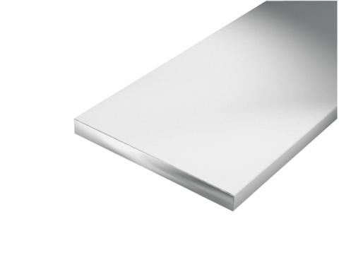 PROFILE PLAT ALU PLASTIFIE BLANC 1M 30X2MM