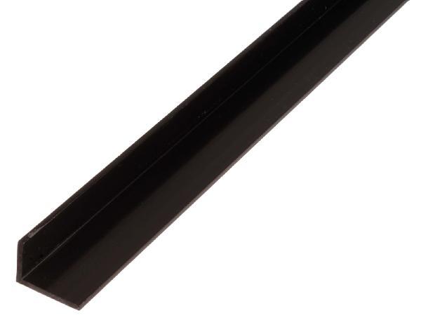 Cornière égale PVC noire 1m 25x25mm Ep.1,8mm